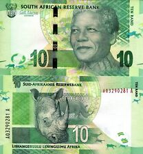 South Africa 10 Rand Banknote World Paper Money Currency Unc Pick p133a 2012