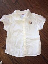 Gymboree Vintage NEW YORK GIRL 5 EUC White collar collar top/blouse Yorkie Dog !