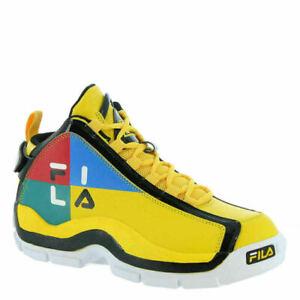 Fila Men's Grant Hill 2 Festival Yellow Black Blue Shoes Basketball 7 9.5 11 13