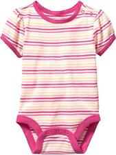 Old Navy Stripe Pink/Yellow Bodysuit Infant/Baby Girl Clothes, Size: 6-12 months