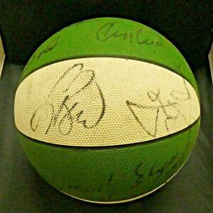 1990-1991 Boston Celtics Team Signed Basketball Larry Bird McHale Lewis Full JSA