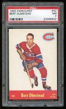 1955 Parkhurst #42 Bert Olmstead *Canadiens* PSA 7 NM #23366632