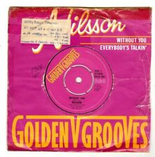 """NILSSON.WITHOUT YOU / EVERYBODY'S TALKIN'.UK """"G/G"""" 7"""" & CO/SL.VG+"""