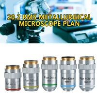 20.2 RMS Metallurgical Microscope Plan Achromatic Objective Lens 4X 10X 40X 100X