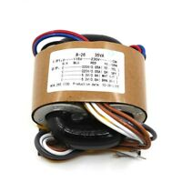 1PCS 35W R-CORE TRANSFORMER For Preamp DAC 115V 230V OUTPUT: 220V+220V 6.3V+6.3V