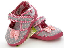 Girls Sandals Nursery Slippers Antibacterial Insole Canvas Shoes Sizes UK 3 - 9