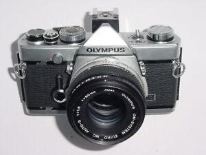 Olympus OM-1N 35mm Film SLR Manual Camera with Olympus 50/1.8 Zuiko Lens - Ex++