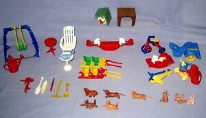 VTG Lot 28 Renwal/Acme Dollhouse Furniture Playground/Vehicles/Animals & More!