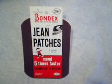 1963 BONDEX JEAN PATCHES Chona Brown #51 Iron On,permacel,new brunswick,n.j. nj