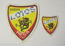 Coppia VECCHI ADESIVI anni '70 / Old Sticker RALLY SCUDERIA LOTOS RECA ITALY