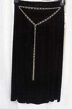 Elementz Falda Talla Negro XL Cinturón Cintura Media Caña
