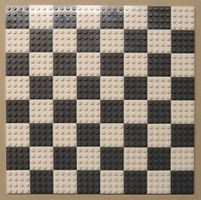 x64 NEW Lego Plates 4x4 White & DK Gray Baseplates MAKES CHESS Game Board