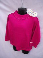 BNWT Girls Size 1-2 Hot Pink Jelly Beans Supersoft Stretch Long Skivvy Top
