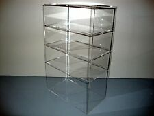 "Acrylic Lucite Countertop Display Case ShowCase Box Cabinet 12"" x 7"" x 19"""