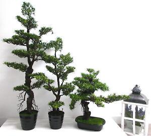 Bonsaibaum künstlich Bonsai Baum Topf Deko Kunstpflanze 30, 65, 96, 133 cm