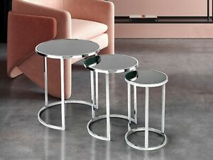 Modern Luxurious Nesting Table / End Table / Side Table Set 3 Piece