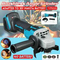 125mm Brushless Cordless Angle Grinder Replace For 18V Makita Li-ion Batte New