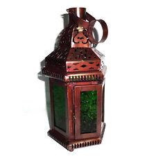 Set di 7 verde vetro Lanterna marocchina, candle holder, LANTERNA DA APPENDERE