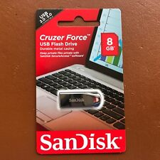 NUOVO SANDISK 8 GB Cruzer Force USB Flash Drive CZ71 ad alta velocità Memory Stick UK