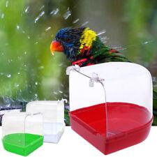 Clean Parrot Bird Bathtub Box Bird Cage Bath Shower Standing Box Bin Wash Space