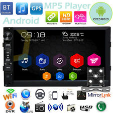 Android WiFi 2Din 7inch HD GPS Navi Car Stereo Player FM MirrorLink Radio Camera