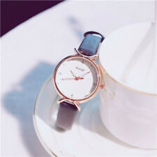 Women Girl Classic Quartz Wrist Watch PU Leather Strap Candy Color Watches