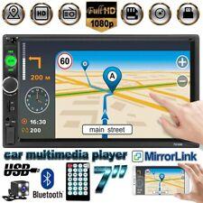 "7"" 2DIN AUTORADIO STEREO BLUETOOTH MP5 Link Specchio GPS FM USB +TELECAMERA"