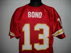 Vintage Wilson #13 Steve Bono Kansas City Chiefs Jersey L