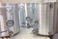 All Grain 3 Pack; 25 Gallon HLT, Mash Tun & Brew Kettle Aluminum