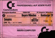 Ticket BL 84/85 FC Bayern München - Hamburger SV, Stehplatz