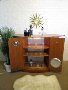 Mid Century Vintage Retro 60s 70s TURNIDGE of LONDON Cocktail Drinks Bar Cabinet