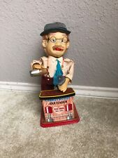 Vintage 1960's Charlie Weaver Tin Litho Bartender Battery Operated Toy