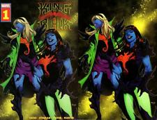 KING IN BLACK #1 BLACK LIGHT TRADE DRESS VIRGIN VARIANT 2 COMIC SET CATES KNULL