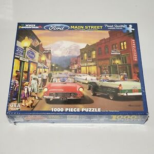 White Mountain Main Street - 1000pc Puzzle #1172 Official Licensed Ford Product