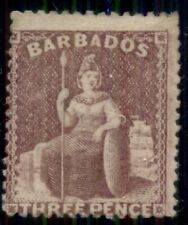 BARBADOS #38, 3p claret, og, LH, signed, Scott $350.00