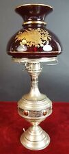 LAMPE DE TABLE. ARGENT. DIFFUSEUR EN VERRE. XIX-XXE SIECLE.