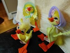 """Annalee Duckling family, 6"""" tall, Set of Three, Great condition, Easter Decor"""