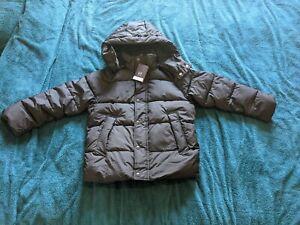 Gap Coldcontrol Max Boys Black Puffer Coat Jacket Detachable Hood M Medium