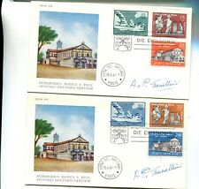 Vatican City 1961 First Day Stamp Cover Scott 304 - 309 Signed Lot 2 7868H