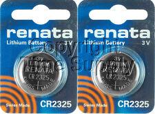 2 pc 2325 Renata Lithium Watch Batteries FREE SHIP Expire 08/2022