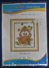 Avenue Crafts 'Baby Owl' Counted Cross-stitch kit D951 [BOT]