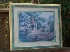 Home Interiors Framed Victorian Gazebo Print Picture By Margie Whittington