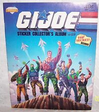 G.I. JOE STICKER COLLECTOR'S ALBUM + TOP SECRET DECODER =1987 = HASBRO = VINTAGE