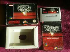 SNES GAMES SUPER NINTENDO GAMES.    WARLOCK- complete