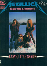 METALLICA RIDE THE LIGHTENING EASY GUITAR W/RIFFS AND VOCAL MUSIC BOOK 1984 RARE