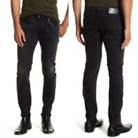 NWT DIESEL Mens Troxer RS028 Faded Black Slim-Skinny Stretch Jeans 29 x 30