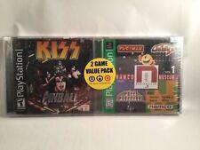 Namco Museum Vol 1 & KISS Pinball PlayStation PS1 Target Exclusive 2-Pack Bundle