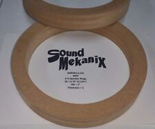 """MDF Speaker Rings, 6 1/2"""" X-LARGE Size 1"""" Thick One Pair Made In USA"""