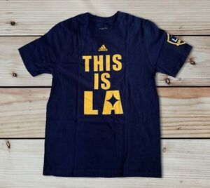 LA Galaxy Official MLS Adidas Kids Youth Size Large 14/16 T-Shirt New with Tags