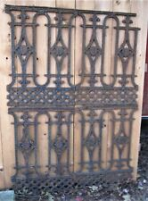 4 Antique Usa Architectural Salvage Cast Iron Gate Fence Fineal Door Art Panel